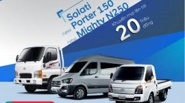 Hyundai Dũng Lạc khuyến mại 20 triệu đồng cho 3 sản phẩm xe thương mại
