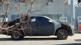 Bán tải Hyundai Santa Cruz lộ ảnh chạy thử