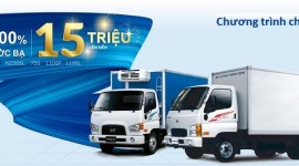 Hyundai Dũng Lạc tặng ngay 100% phí trước bạ khi mua xe tải Hyundai N250SL, 110SL-110SP